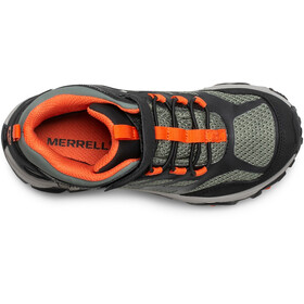Merrell Moab FST Mid A/C Waterproof Shoes Kids olive/black